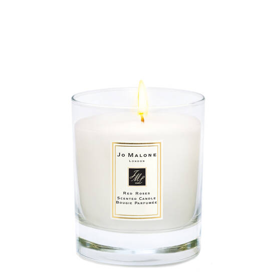 Red Roses Home Candle