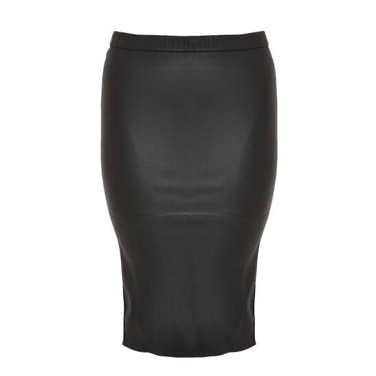 Pencil-Skirt aus Stretch-Leder
