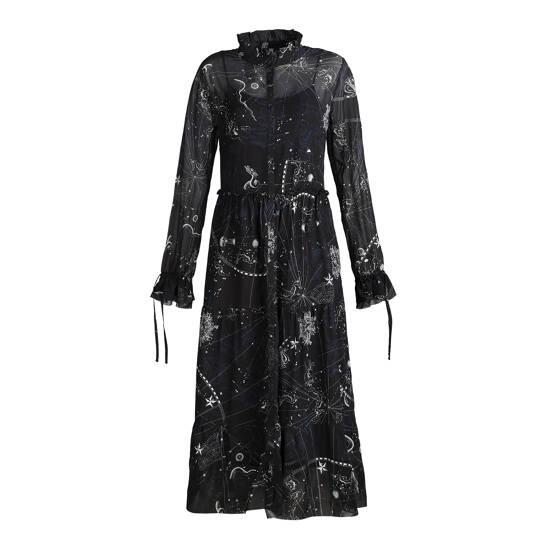 Kleid mit SternzeichenPrint