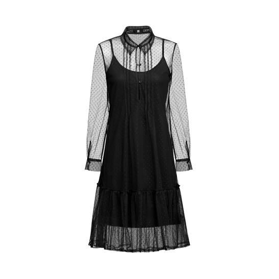 Kleid aus weichem Tüll mit Mini-Dots