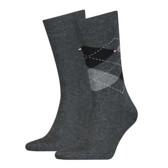 Men Check Socke 2er Pack