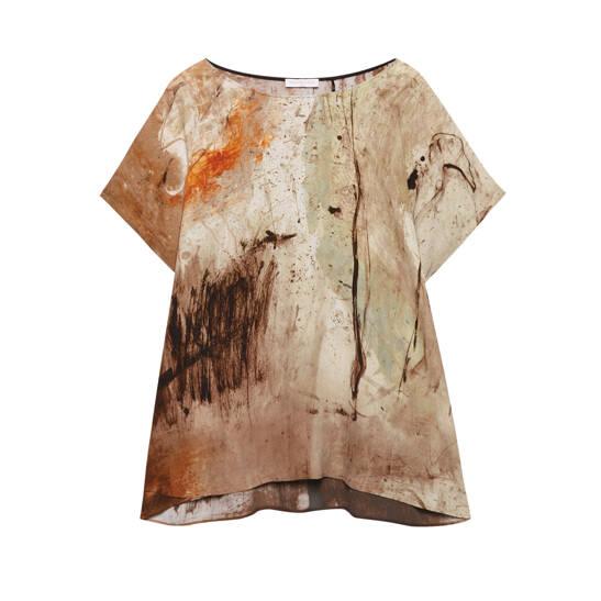 Bluse aus Viskose-Crepe