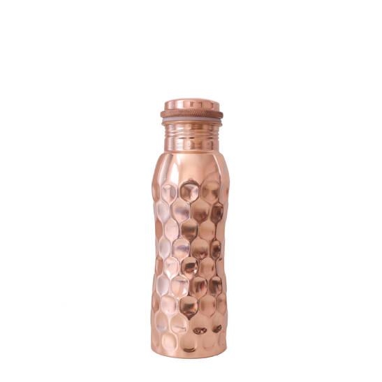 Kupferwasserflasche Diamant 600 ml