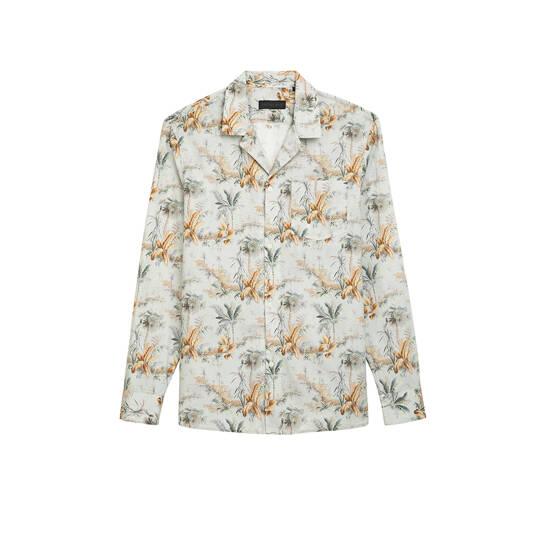 Mauri Bowling Hemd Blätterdruck