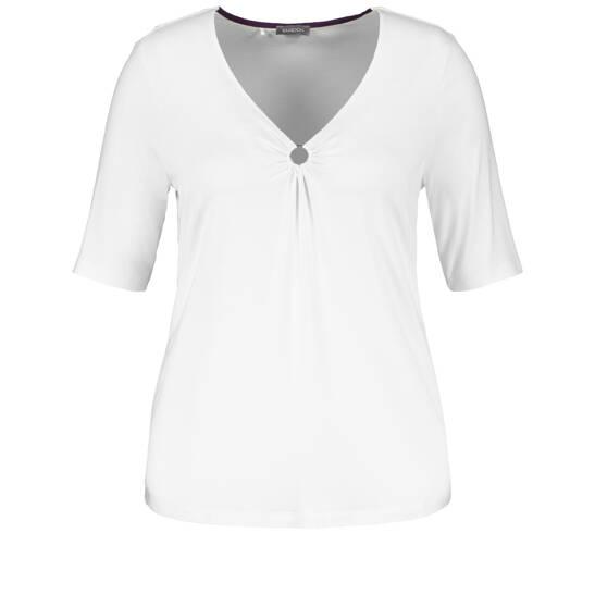 Basic-Shirt mit Zierring