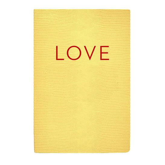 Love A5 Softcoverheft gelb