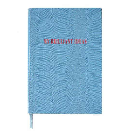 My Brilliant Ideas A5 Notizbuch hellblau