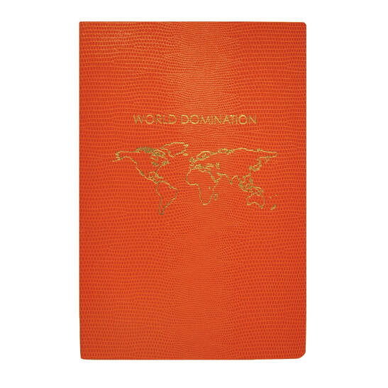 World Domination A5 Notizbuch dunkelblau