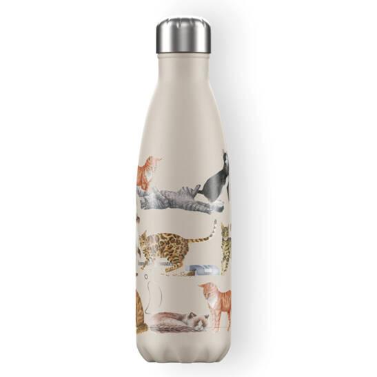 Trinkflasche Chilly´s mit Katzen