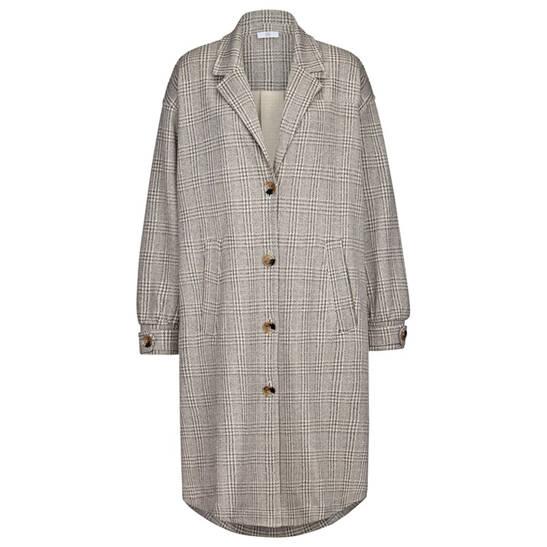 Mantel in Overshirt-Optik aus bequemem Heavy-Jersey