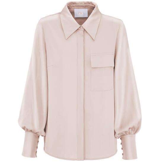 Bluse Solid Silk