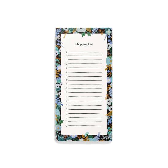 Garden Party Blue Einkaufsliste