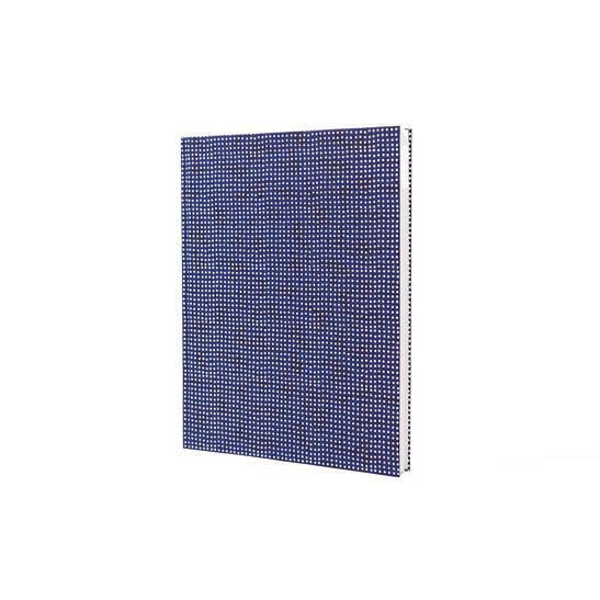 Notizbuch Tokyo Memo Chiyogami 17x22cm 120 S. Lochordnung blau