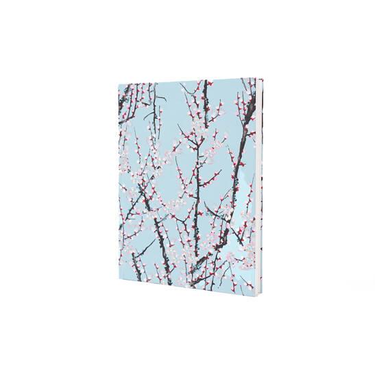 Notizbuch Tokyo Memo Chiyogami 17x22cm 120 S. Zweige auf hellblau