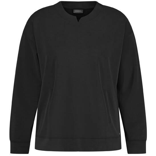 Sweatshirt aus softem Jersey mit mattem Glanz