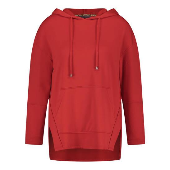 Hoodie in frischem Rot