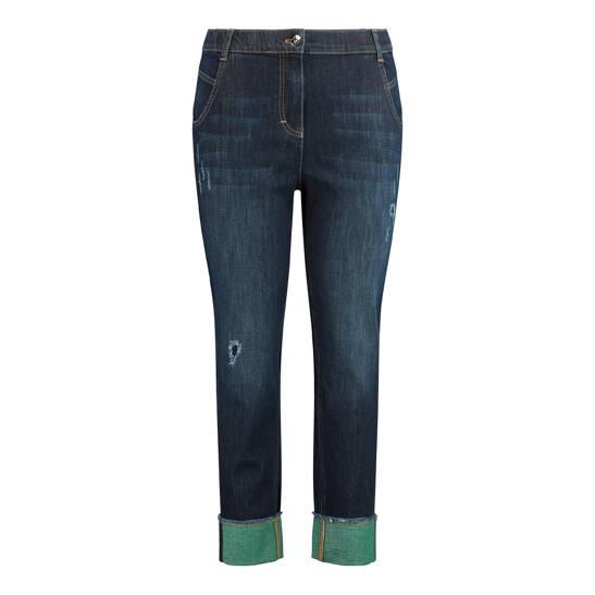 Jeans Betty mit grünem Umschlag