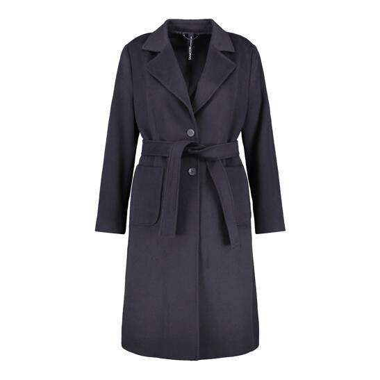 Mantel mit Bindegürtel aus Wollmix