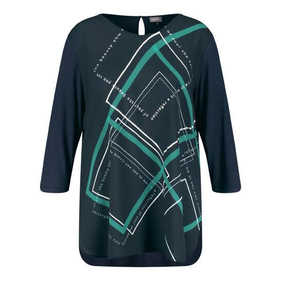 Longshirt mit Karo-Muster