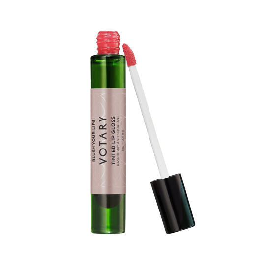 Tinted Lip Gloss, Raspberry and Squalane