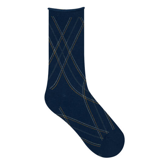 Fine Motif Ecossais Socke