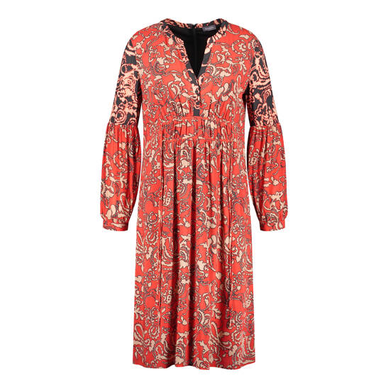 Kleid mit Ballonaärmeln im Boho-Stil